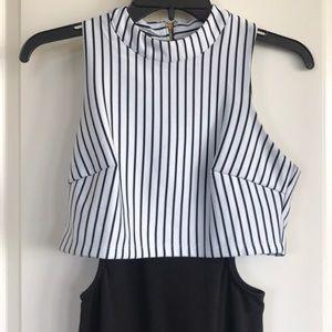 bebe Dresses - Bebe half striped dress